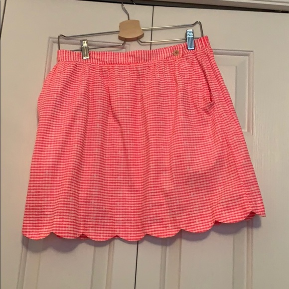 Lilly Pulitzer Dresses & Skirts - Neon Pink scalloped skirt